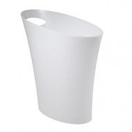 Otwarty kosz na śmieci Umbra Skinny Mesh metaliczny biały