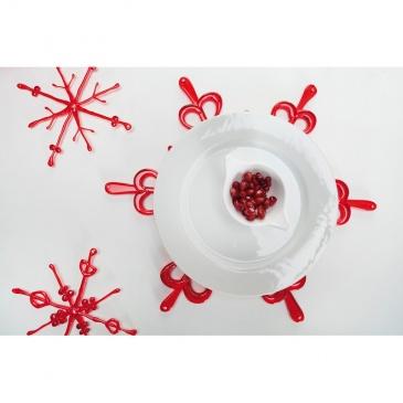 Ozdoba dekoracja świąteczna Koziol FLAKES czerwone 2 szt.