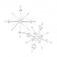 Ozdoba dekoracja świąteczna Koziol FLAKES srebrne 2 szt.