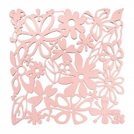 Panel dekoracyjny 4 szt. 27x27cm Koziol Alice pastelowy róż