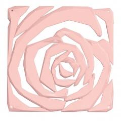 Panel dekoracyjny 4 szt. 27x27cm Koziol Romance pastelowy róż