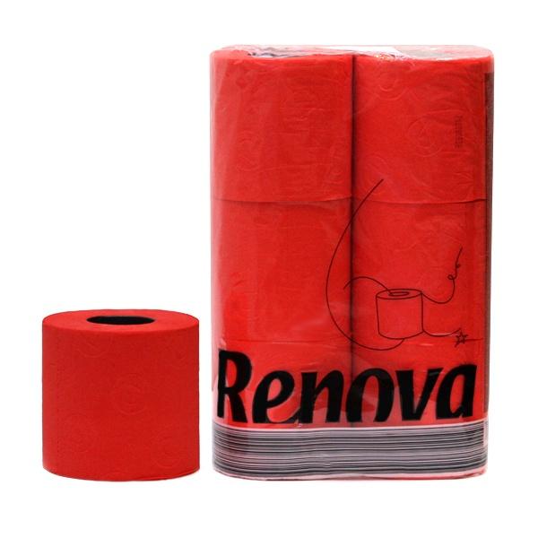 Papier toaletowy 6 szt. Renova czerwony 5601028010108