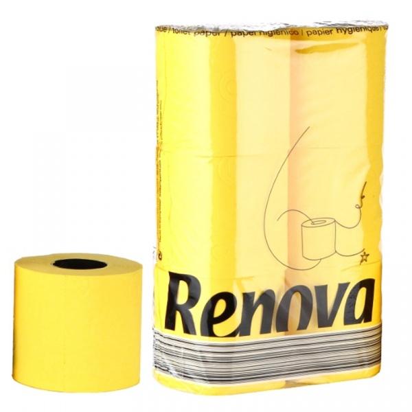 Papier toaletowy 6 szt. Renova zółty 5601028013475