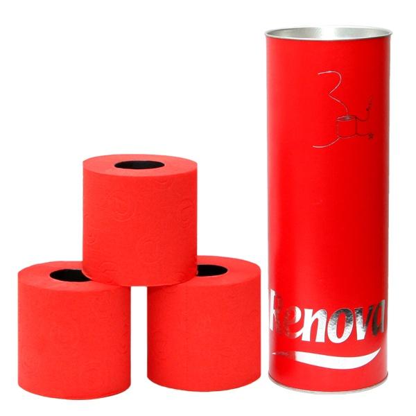 Papier toaletowy w tubie 3 szt. Renova czerwony 5601028010573