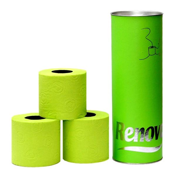 Papier toaletowy w tubie 3 szt. Renova zielony 5601028010634