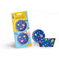 Papilotki do muffinek w balony 200szt 15681 Guardini niebieski