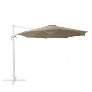 Parasol ogrodowy Ø300 cm mokka/biały Inzerillo