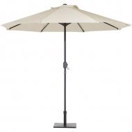 Parasol ogrodowy LED Ø266 cm beżowy Zaccheo