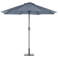Parasol ogrodowy LED Ø266 cm ciemnoszary Zaccheo