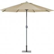 Parasol ogrodowy LED Ø266 szaro-beżowy Zaccheo