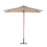 Parasol ogrodowy - mokka - 144 x 195 cm - drewniany - Olanda