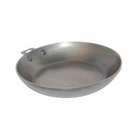 Patelnia 24cm bez rączki de Buyer B Element Twisty srebrna