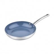 Patelnia 24cm ceramiczna Lamart Shiny srebrna