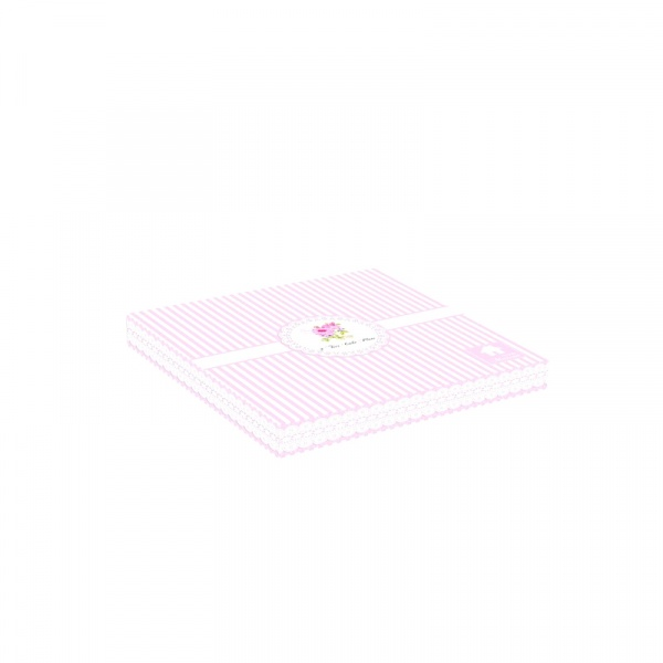 Patera dwupoziomowa Nuova R2S La Belle Maison różowe piwonie paski 1024 RSE