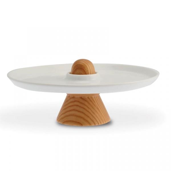 Patera mała do serwowania ciast 24 cm Legnoart - bez opakowania VC-1(1)