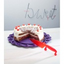 Patera podstawka na tort Koziol Tortella czerwona