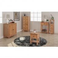 Pięcioczęściowy zestaw mebli do salonu, lite drewno dębowe