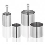 Pierścienie do formowania, śred. 7,5 + 5 cm Kuchenprofi srebrne