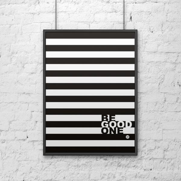 Plakat dekoracyjny 50x70 cm BE GOOD paski DS-PL13-1