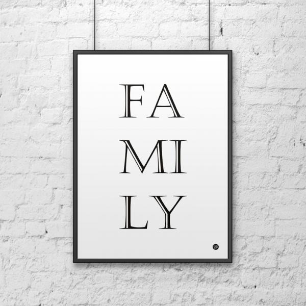 Plakat dekoracyjny 50x70 cm FAMILY DekoSign biały DS-PL8-0