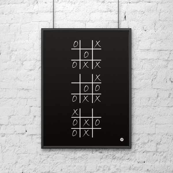 Plakat dekoracyjny 50x70 cm KÓŁKO I KRZYŻYK DekoSign czarny DS-PL4-1