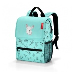 Plecak backpack kids cats and dogs mint