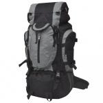 Plecak turystyczny XXL 75 L czarno-szary
