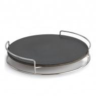 Płyta ceramiczna z podstawą do pieczenia 9x46x46cm LotusGrill czarna