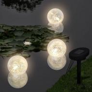 Pływające lampy solarne LED do stawu, 3 sztuki