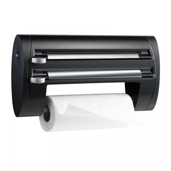 Podajnik dyspenser na ręcznik papierowy i folię EMSA Superline czarny EM-509247