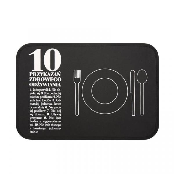 Podkładka stołowa 10 Przykazań + talerzyk Healthy Plan By Ann - Anna Lewandowska MSSNP001