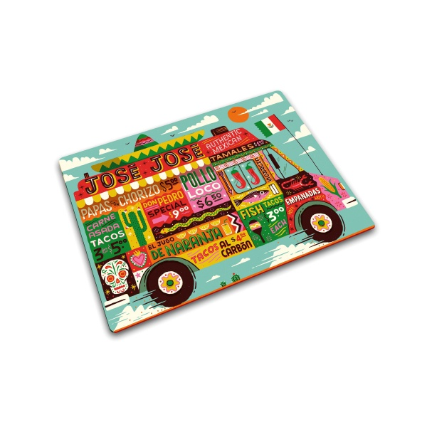 Podkładka szklana 40x30 cm Joseph Joseph Worktop Food Truck 90103