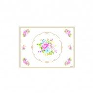 Podkładki korkowe 4 szt. Nuova R2S Vintage Bouquet biała