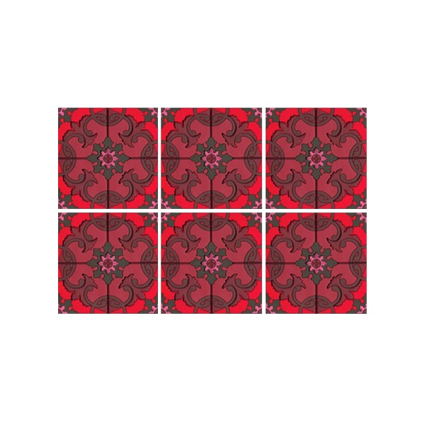 Podstawki Sejjadeh Red Images d'Orient 6 szt. E-COA990026