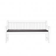 Poducha na ławkę TOSCANA/Lorenzo grafitowa 169 x 50 x 5 cm