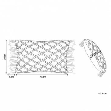 Poduszka dekoracyjna 30 x 45 cm szara KIRIKKALE