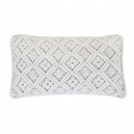Poduszka dekoracyjna 30 x 50 cm biała ALATEPE