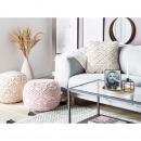 Poduszka dekoracyjna 45 x 40 cm jasnobeżowa GOREME