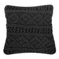 Poduszka dekoracyjna 45 x 45 cm czarna MUDANYA