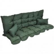 Poduszka na huśtawkę ogrodową z poduszkami ozdobnymi