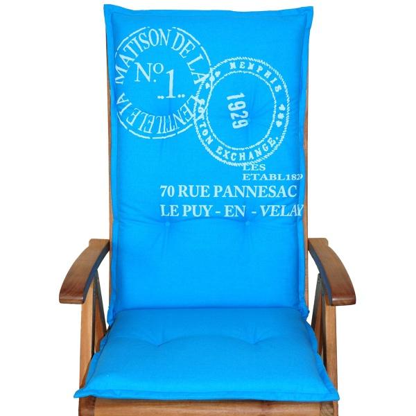 Poduszka na krzesło ogrodowe ACA Bazkar 120x50cm niebieska BK-001740