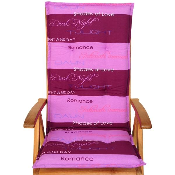 Poduszka na krzesło ogrodowe ACA Bazkar 120x50cm różowa BK-001810