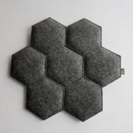 Poduszka na krzesło Plaster czarna