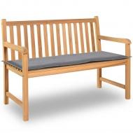Poduszka na ławkę ogrodową, szara, 120x50x3 cm