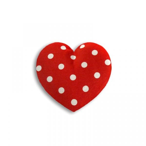 Poduszka termiczna Serce Leschi mała polka dot red 36847