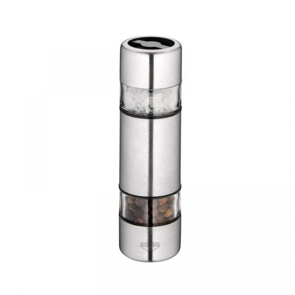 Podwójny młynek do soli i pieprzu 10,5 cm Kuchenprofi Sydney stalowy KU-3042512800