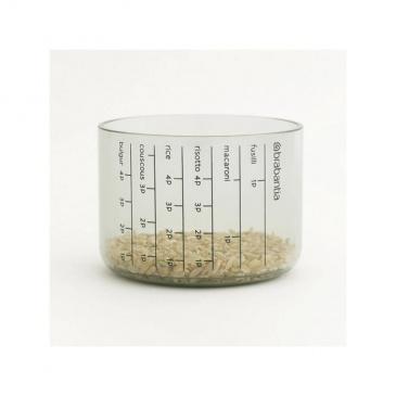 Pojemnik kuchenny z miarką 1,3 szary - Brabantia