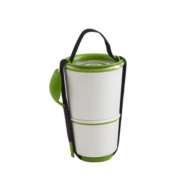 Pojemnik LUNCH POT Black&Blum biało-zielony BP001