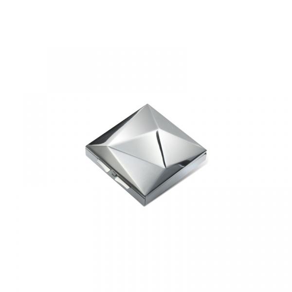 Pojemnik na drobiazgi PO: błyszczący srebrny P805