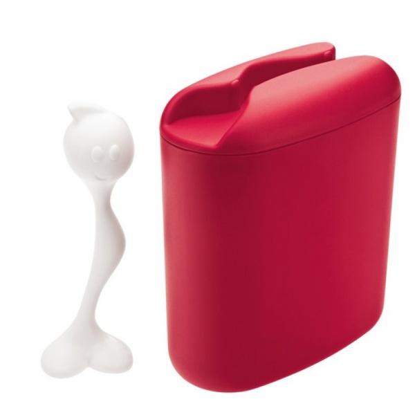 Pojemnik na kawę z miarką Koziol Hot Stuff czerwony KZ-3058583